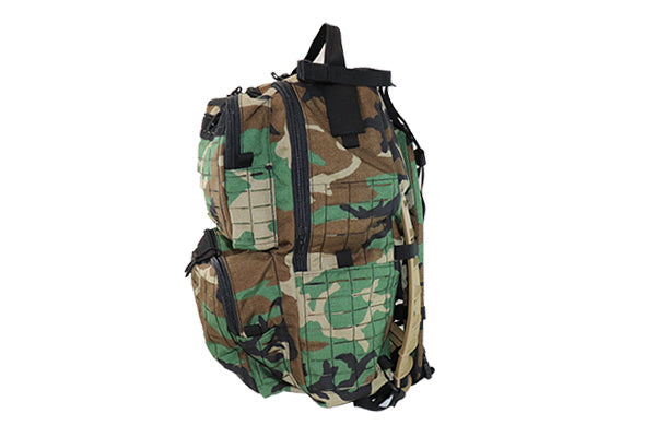 M81 Woodland Camo Rucksack Laser Cut MOLLE Downeast Pack Frame - Wilde Custom Gear
