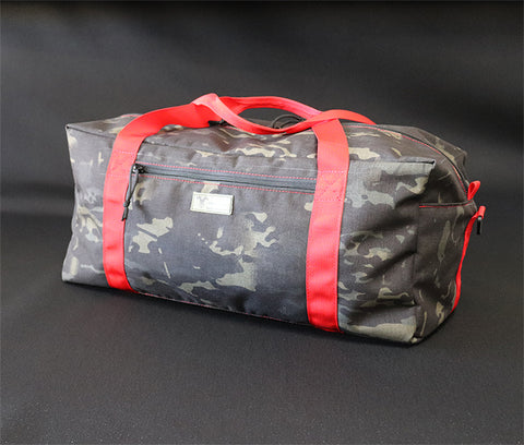Wilde Custom Gear Custom Duffel Bag Multicam Black Red Handles