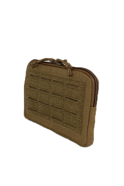 Laser Cut Slim Admin Pouch Coyote Brown Front.jpg