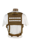 Ultra Light Laser Cut Chest Rig Coyote Brown Back.jpg