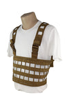 Ultra Light Laser Cut Chest Rig Coyote Brown Side.jpg