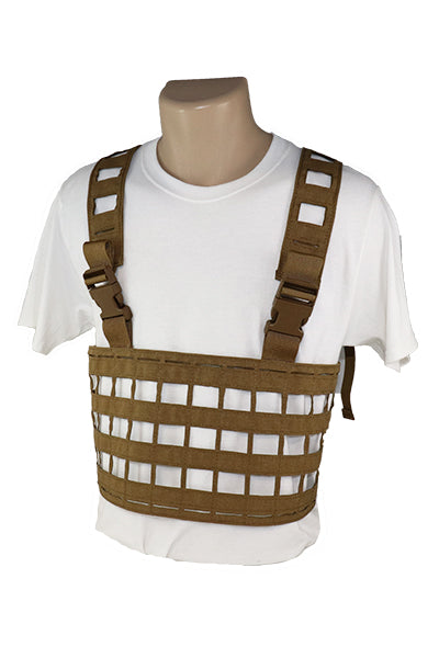Ultra Light Laser Cut Chest Rig Coyote Brown Front.jpg