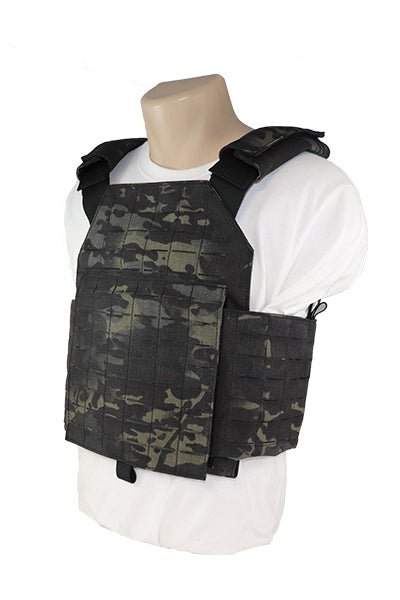 Laser Cut MOLLE Plate Carrier Cummberbund Multicam Black Side.jpg