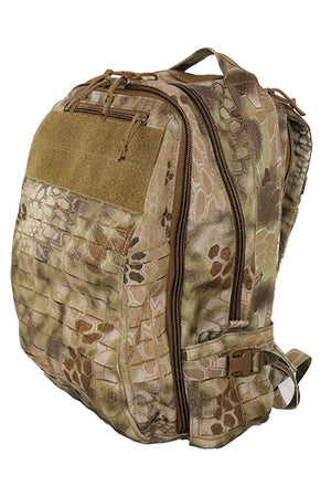 Lasercut MOLLE Backpack Front Angle - Wilde Custom Gear