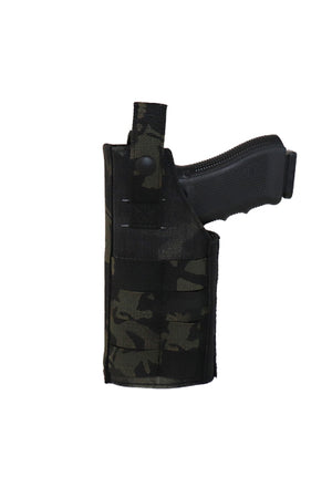 MOLLE Adjustable Pistol Holster Multicam Black Back.jpg