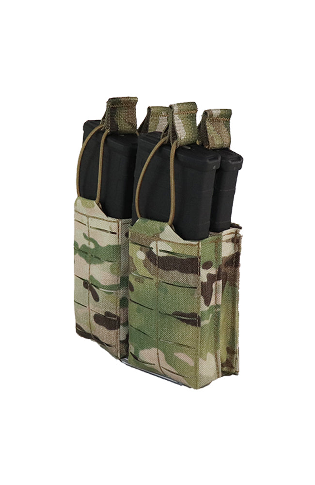AR 15 AR15 30 Round Quad Shingle Magazine Pouch Laser Cut MOLLE Multicam Front Wilde Custom Gear.jpg