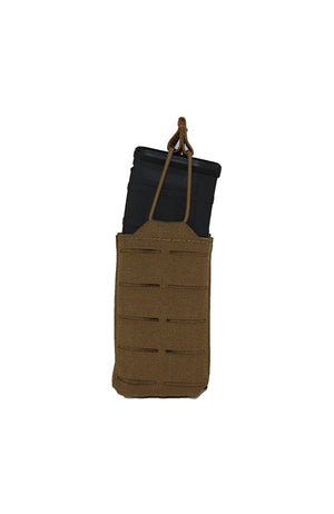 AR 15 AR15 30 Round Single Magazine Pouch Laser Cut MOLLE Coyote Brown Front Wilde Custom Gear.jpg