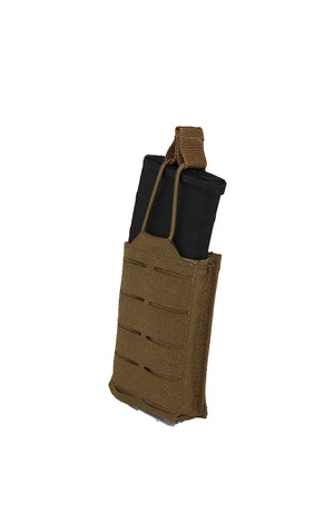 AR 15 AR15 30 Round Single Magazine Pouch Laser Cut MOLLE Coyote Brown Side Wilde Custom Gear.jpg