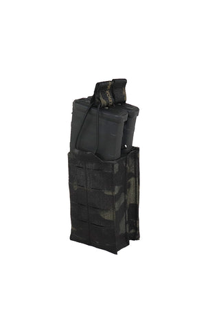 AR 15 AR15 30 Round Double Magazine Pouch Laser Cut MOLLE Multicam Black Side Wilde Custom Gear.jpg