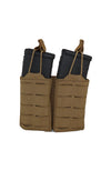 AR 15 AR15 30 Round Two Magazine Pouch Laser Cut MOLLE Coyote Brown Front Wilde Custom Gear.jpg