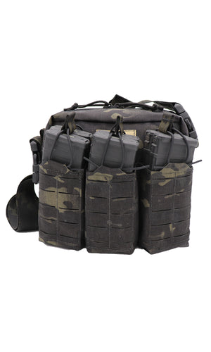 Wilde Custom Gear Active Shooter Bag Laser Cut Multicam Black Front Strap Over