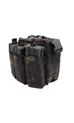 Wilde Custom Gear Active Shooter Bag Laser Cut Multicam Black Side Angle No Strap