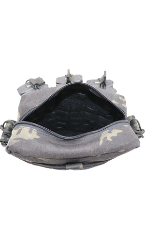 Wilde Custom Gear Active Shooter Bag Laser Cut Multicam Black Top Inside 2