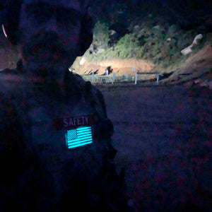 American Flag Laser Cut Morale Patch Glow In the Dark
