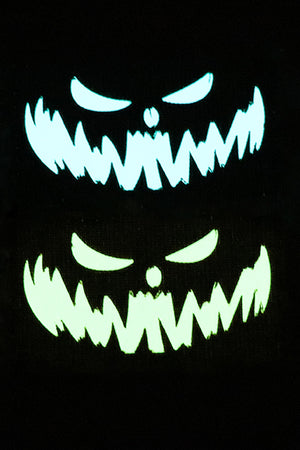 Fang Halloween Glow in the dark laser cut patch - Wilde Custom Gear