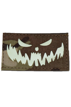 Fang Halloween Glow in the dark laser cut patch Multicam - Wilde Custom Gear