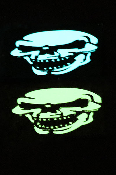 Full Laughing Skull Halloween Glow in the dark laser cut patch - Wilde Custom Gear