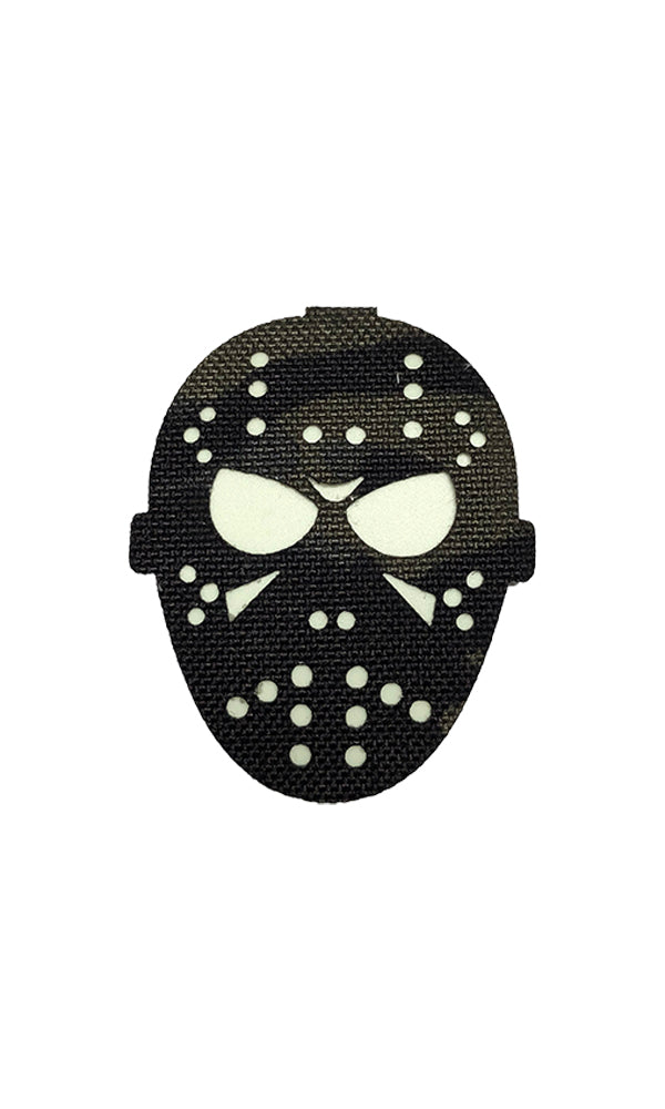 Laser Cut Glow In the Dark Patch - Haunting Hockey Mask