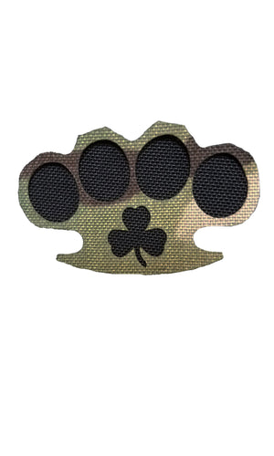 Irish Brass Knuckles Morale Patch Ireland Saint Patrick's Day Drinking Wilde Custom Gear