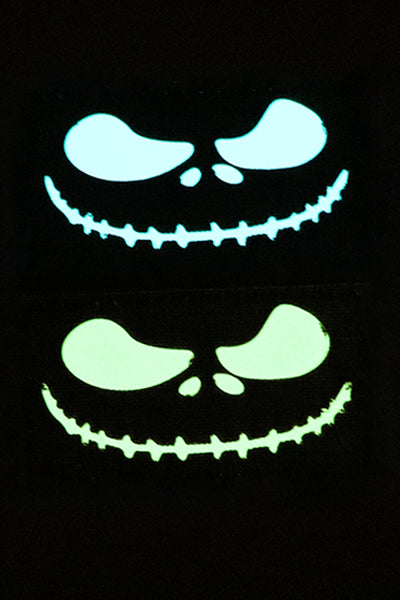 Jack Skellington Halloween Glow in the dark laser cut patch - Wilde Custom Gear