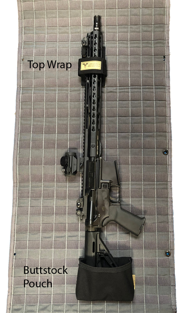 MOLLE Gun Safe Door Panel Organizer Rifle Mount