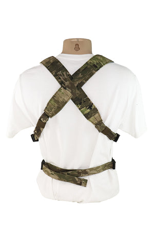 Wilde Custom Gear Modular Laser Cut MOLLE Chest Rig - ATACS IX Back