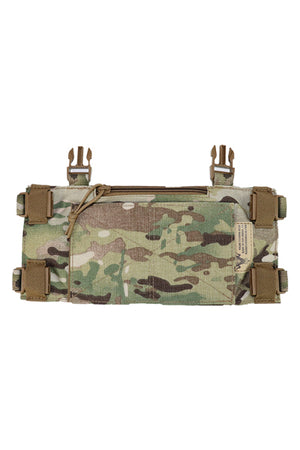 Wilde Custom Gear Modular Laser Cut MOLLE Chest Rig - Multicam Base Platform Back Buckles Tucked