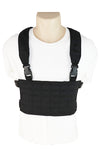 Wilde Custom Gear Modular Laser Cut MOLLE Chest Rig - Black Front