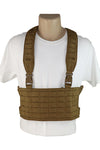 Wilde Custom Gear Modular Laser Cut MOLLE Chest Rig - Coyote Brown Front