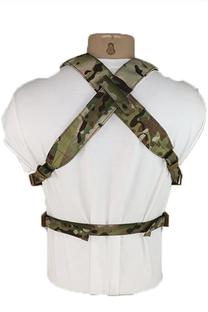 Wilde Custom Gear Modular Laser Cut MOLLE Chest Rig - Multicam Back