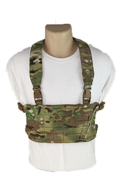 Wilde Custom Gear Modular Laser Cut MOLLE Chest Rig - Multicam Front