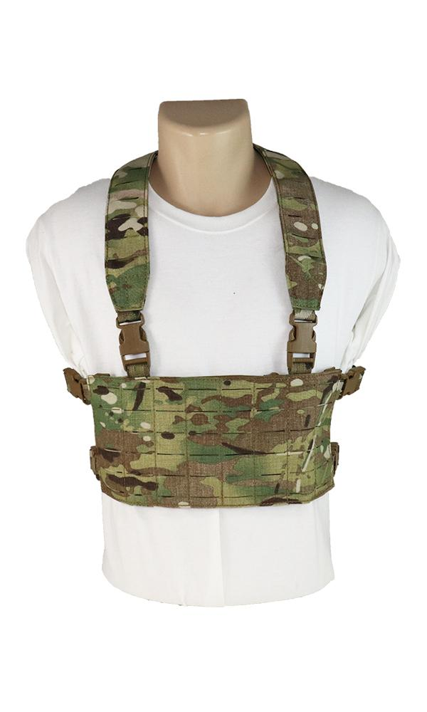 Modular Laser Cut Chest Rig Multicam Front