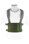 Wilde Custom Gear Modular External Load Bearing Laser Cut MOLLE Vest Carrier Police Law Enforcement Chest Rig Placard Highlighted