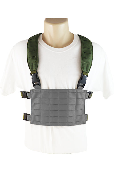 Wilde Custom Gear Modular MOLLE Placard Chest Rig Conversion Kit Shoulder Straps Front Police Law Enforcement