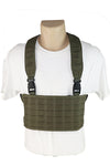 Wilde Custom Gear Modular Laser Cut MOLLE Chest Rig - Ranger Green Front