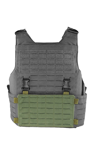 Wilde Custom Gear Modular External Load Bearing Laser Cut MOLLE Vest Carrier Police Law Enforcement Placard Front View