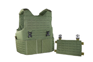 Wilde Custom Gear Modular External Load Bearing Laser Cut MOLLE Vest Carrier Police Law Enforcement Removable Placard