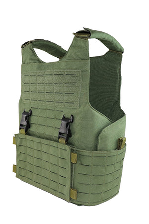 Wilde Custom Gear Modular External Load Bearing Laser Cut MOLLE Vest Carrier Police Law Enforcement Side Angle