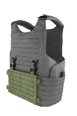 Wilde Custom Gear Modular External Load Bearing Laser Cut MOLLE Vest Carrier Police Law Enforcement Placard Side View
