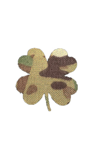 Shamrock Laser Cut Morale Patch Clover Saint Patrick's Day Multicam Wilde Custom Gear