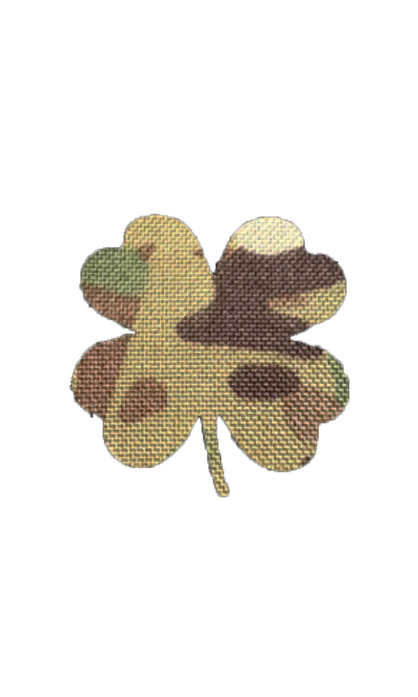 Shamrock Laser Cut Morale Patch Clover Saint Patrick's Day Multicam Black Wilde Custom Gear
