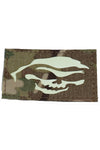 Reaper Halloween Glow in the dark laser cut patch Multicam - Wilde Custom Gear