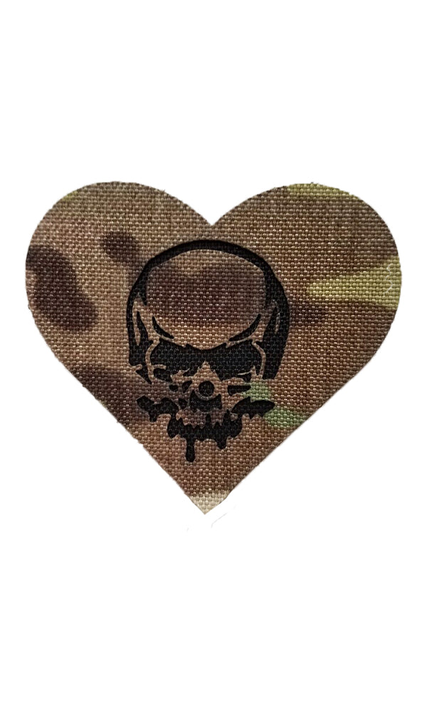 Skull Heart Laser Cut Patch