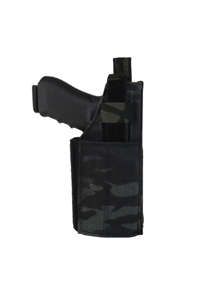 MOLLE Adjustable Pistol Holster Multicam Black Front.jpg