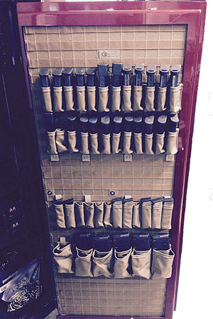 MOLLE Gun Safe Panel Door Organizer Coyote Magazine Pouches Web.jpg
