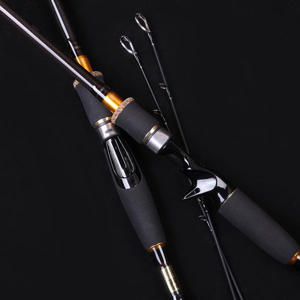 Carbon Fiber Fishing Rod Travel Spinning//Casting Lure Rod Saltwater Pole 2.1M
