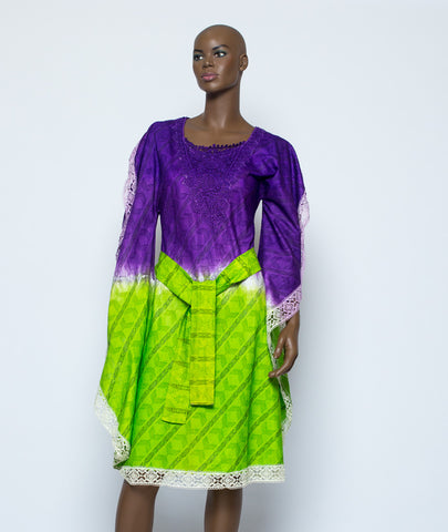 Voil Dyed Patapata Dress