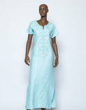 Italian Linen Plain Long Dress