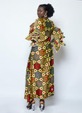 Silk Wax Print Dress