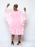 Dyed Chiffon Round Patapata Dress
